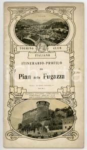 1906 TOURING CLUB ITALIANO Itinerario-profilo Pian della Fugazza *Anno XII N° 11