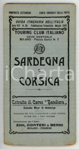 1902 TOURING CLUB ITALIANO Sardegna e Corsica / Mappa *Anno VIII - N° 20
