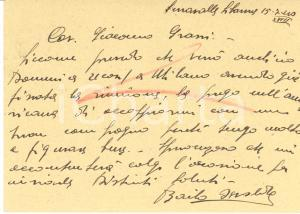 1940 CICLISMO SERRAVALLE SCRIVIA Osvaldo BAILO chiede buon compagno - Autografo