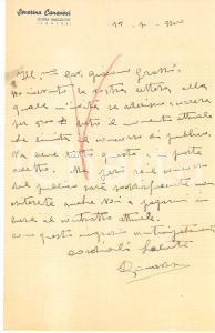 1940 CICLISMO GORLA MAGGIORE Lettera Severino CANAVESI per gara - AUTOGRAFO
