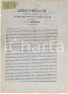 1865 GENOVA Emporio franco-italiano di Giulio SIMON - Pieghevole pubblicitario
