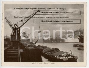 1938 AMBURGO Hotel GRAF MOLTKE - Steindamm 1 - Cartolina VINTAGE FG VG