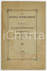 1883 Isidoro DEL LUNGO R. Istituto della SS. Annunziata - La donna ispiratrice