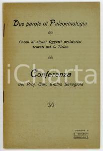 1906 Emilio BARAGIOLA Paleoetnologia - Oggetti preistorici nel Canton Ticino