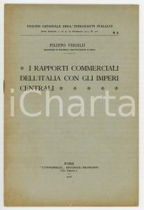 1918 Filippo VIRGILII I rapporti commerciali dell'Italia con gli imperi centrali