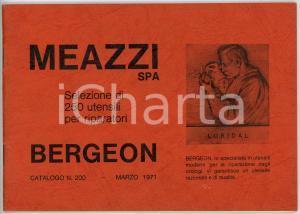 1971 MILANO - MEAZZI SPA Utensili BERGEON per riparazione orologi *Catalogo