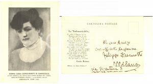 1934 MILANO Cartolina in suffragio di Carla GIORGI - Autografo Guido RUBETTI