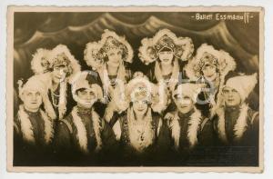 1925 ca Russian Ballet ESMANOFF - Vintage postcard Photo LANGGUTH RPPC