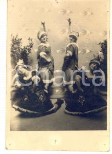1924 INNSBRUCK - CHRISTMAS - Dancers in costume - DAMAGED Photo 9x13 cm