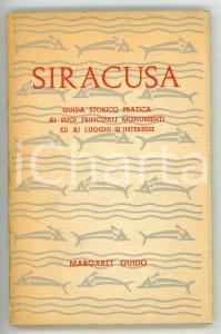 1967 Margaret GUIDO Siracusa - Guida storico-pratica ai principali monumenti