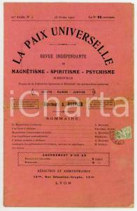 1910 LA PAIX UNIVERSELLE Le magnétisme à distance *Rivista anno 21 - N° 7