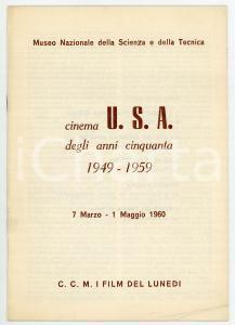 1960 MILANO - CCM I FILM DEL LUNEDÌ Cinema USA anni Cinquanta *Pubblicazione