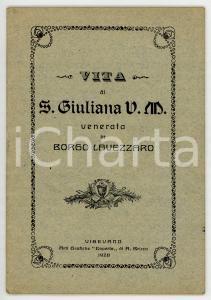1928 Giovanni BOTTINI Vita di Santa Giuliana V. M. venerata in Borgo Lavezzaro