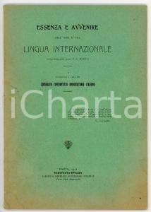 1911 P. C. MONTI Essenza d'una lingua internazionale / Esperanto *AUTOGRAFO