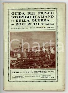1927 Mario CEOLA Guida del Museo Storico Italiano della Guerra in Rovereto