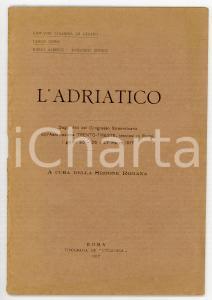 1917 AA. VV. L'Adriatico - Atti del congresso dell'associazione TRENTO-TRIESTE