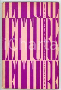 1961 LETTURE Spiritualismo epico di Georges Bernanos *Rivista anno XVI - N° 12