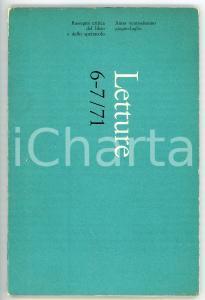 1971 LETTURE La deflagrazione poetica di Jean Genet *Rivista anno XXVI n° 6-7