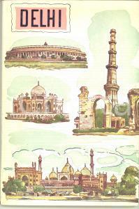1960 DELHI Opuscolo ILLUSTRATO *Dipartimento del Turismo / Governo dell'India