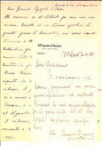 1940 MILANO IL POPOLO D'ITALIA Angelo ROZZONI per biglietti ciclismo *Autografo