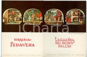 1965 ca FELTRE BIRRERIA PEDAVENA Leggenda dei Monti Pallidi *Pieghevole VINTAGE