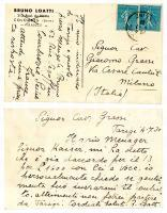 1938 CICLISMO COLOMBES (F) Bruno LOATTI chiede contratto per gara - AUTOGRAFO
