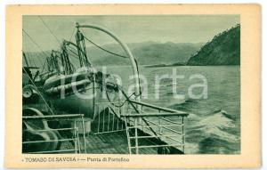1930 ca PORTOFINO - T/N TOMASO DI SAVOIA Scialuppe di salvataggio *Cartolina FP