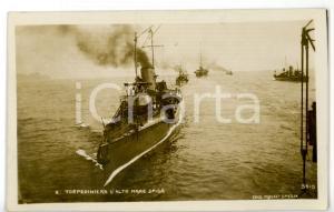 1915 MARINA MILITARE Regia Nave SPIGA Torpediniera - Cartolina FP VG