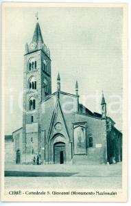 1930 ca CIRIÉ (TO) Duomo di SAN GIOVANNI BATTISTA - Cartolina ANIMATA FP NV