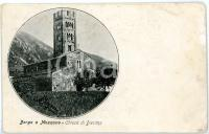 1915 ca BORGO A MOZZANO Loc. DIECIMO (LU) Pieve di Santa Maria *Cartolina FP NV