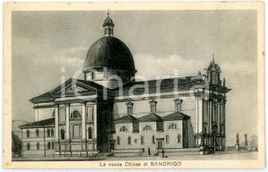 1940 ca SANDRIGO (VI) Veduta chiesa SS. FILIPPO E GIACOMO *Cartolina ILLUSTRATA
