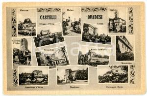 1940 ca PROVINCIA DI ALESSANDRIA Vedutine dei castelli OVADESI *Cartolina FP