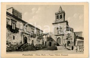 1930 ca FRANCOFONTE (SR) Chiesa Madre e piazza Vittorio Emanuele *Cartolina FP