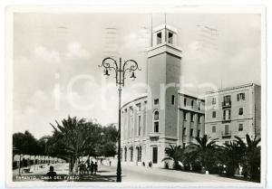 1941 TARANTO Scorcio con Casa del Fascio *Cartolina ANIMATA - FG VG