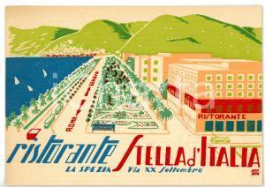1955 ca LA SPEZIA Via XX Settembre - Ristorante STELLA D'ITALIA *Cartolina FG NV