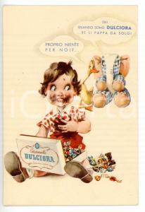 1960 ca MILANO Cioccolato e caramelle DULCIORA *Cartolina pubblicitaria VINTAGE