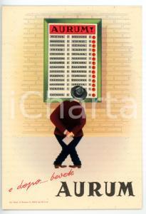 1951 PESCARA Liquore AURUM - Cartolina pubblicitaria VINTAGE - FG NV