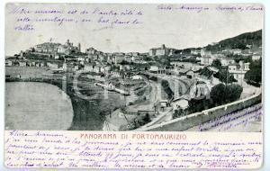 1905 PORTO MAURIZIO (IM) Veduta panoramica con SPIAGGIA D'ORO *Cartolina FP VG