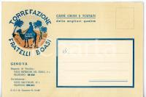 1950 ca GENOVA Torrefazione FRATELLI BOASI Moka modeida *Pubblicitaria FG NV