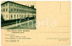 1958 PORDENONE Veduta Collegio Don Bosco *Cartolina VINTAGE - FP NV