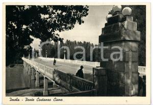1942 IMOLA (BO) Passeggiata sul ponte Costanzo CIANO *Cartolina VINTAGE FG VG