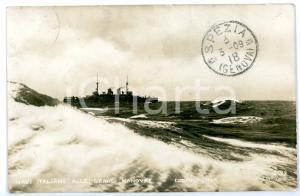 1909 LA SPEZIA - MARINA MILITARE Nave italiana alle grandi manovre *Cartolina FP