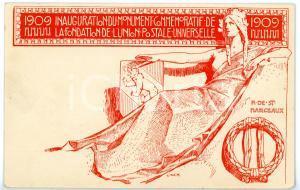 1909 SUISSE Monument de la fondation de l'union postale universelle *Cartolina