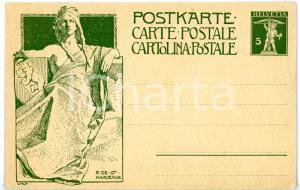 1909 SUISSE Monument de la fondation de l'union postale universelle - Cartolina