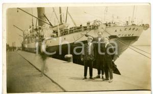 1915 ca MARINA MILITARE R.N. ALEARDI FIUME attraccata al molo *Cartolina ANIMATA