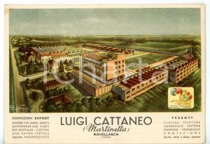 1960 ca ROVELLASCA Filati Luigi CATTANEO (MARTINETTA) - Cartolina pubblicitaria