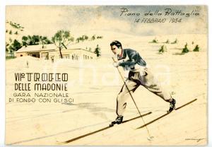 1954 PIANO BATTAGLIA (PA) VII Trofeo delle Madonie - Sci di fondo *Cartolina FG
