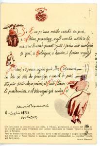 1957 BOLOGNA Ristorante CESARINA - Poesia Mario BIANCONI *Cartolina ILLUSTRATA