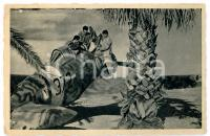 1945 ca AVIAZIONE MILITARE ITALIANA Rifornimento monoplano da caccia *Cartolina