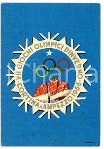 1956 CORTINA D'AMPEZZO Giochi olimpici d'inverno *Cartolina ILLUSTRATA - FG